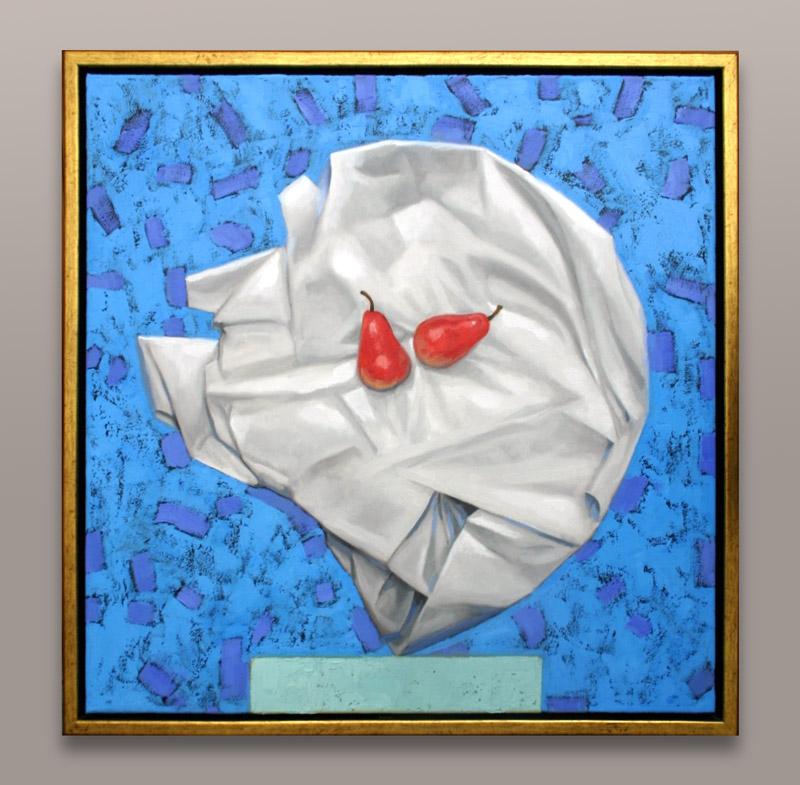 """Pears - Oil on canvas - 24"""" X 24"""" - Framed - $1,600.00"""