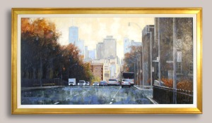 "Avenue Road from Balmoral - Oil on board -- 24"" x 48"" -- $3,200.00"