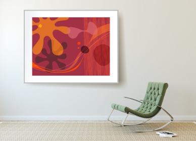 "Red Stars --Archival Pigment Print - 24"" x 30"""