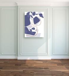 "Blue Blobs -- Archival Pigment Print - 30"" x 24"""