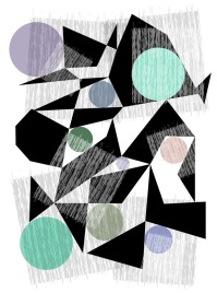 Black Hexagons -- Archival Pigment Print - various sizes