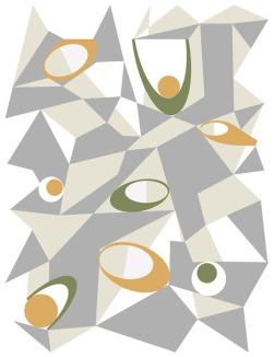 Grey hexagons -- Archival Pigment Print - various sizes