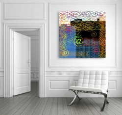 """E-mail Me -- 30"""" x 30"""" - Mounted on wall"""