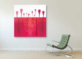 """Red Queen - 36"""" x 36"""" - Archival Print"""