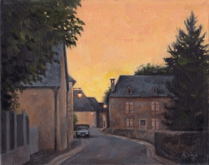 "Dognen France at Twilight - 8"" x 10"" - Oil on Linen - SOLD"