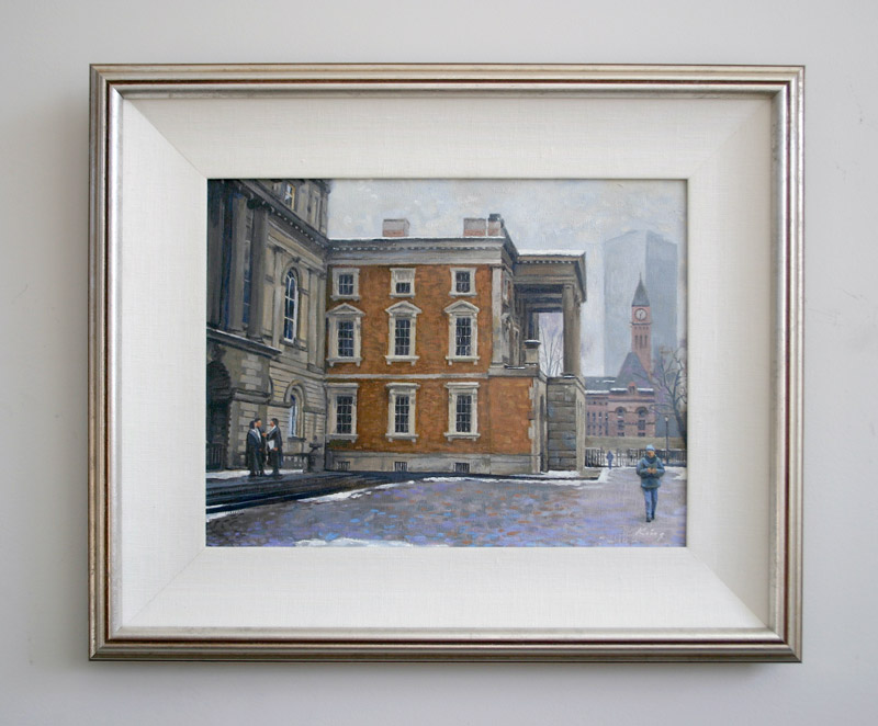 "Osgoode Hall Winter - Oil on canvas - 14"" X 11"" -- Framed"