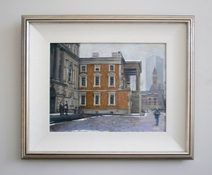 "Osgoode Hall Winter - Oil on canvas - 14"" X 11"" -- Framed"