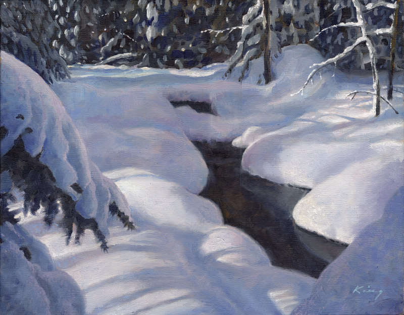 """Snow Grotto - Oil on linen - 11"""" x 14"""""""