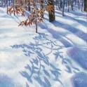 "Snow Glyphs - Oil on Wood - 8"" x 8"" NFS"