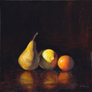 "Sidelit by Alan King - Oil on Birch panel - 10"" x 10"" - $300.00"