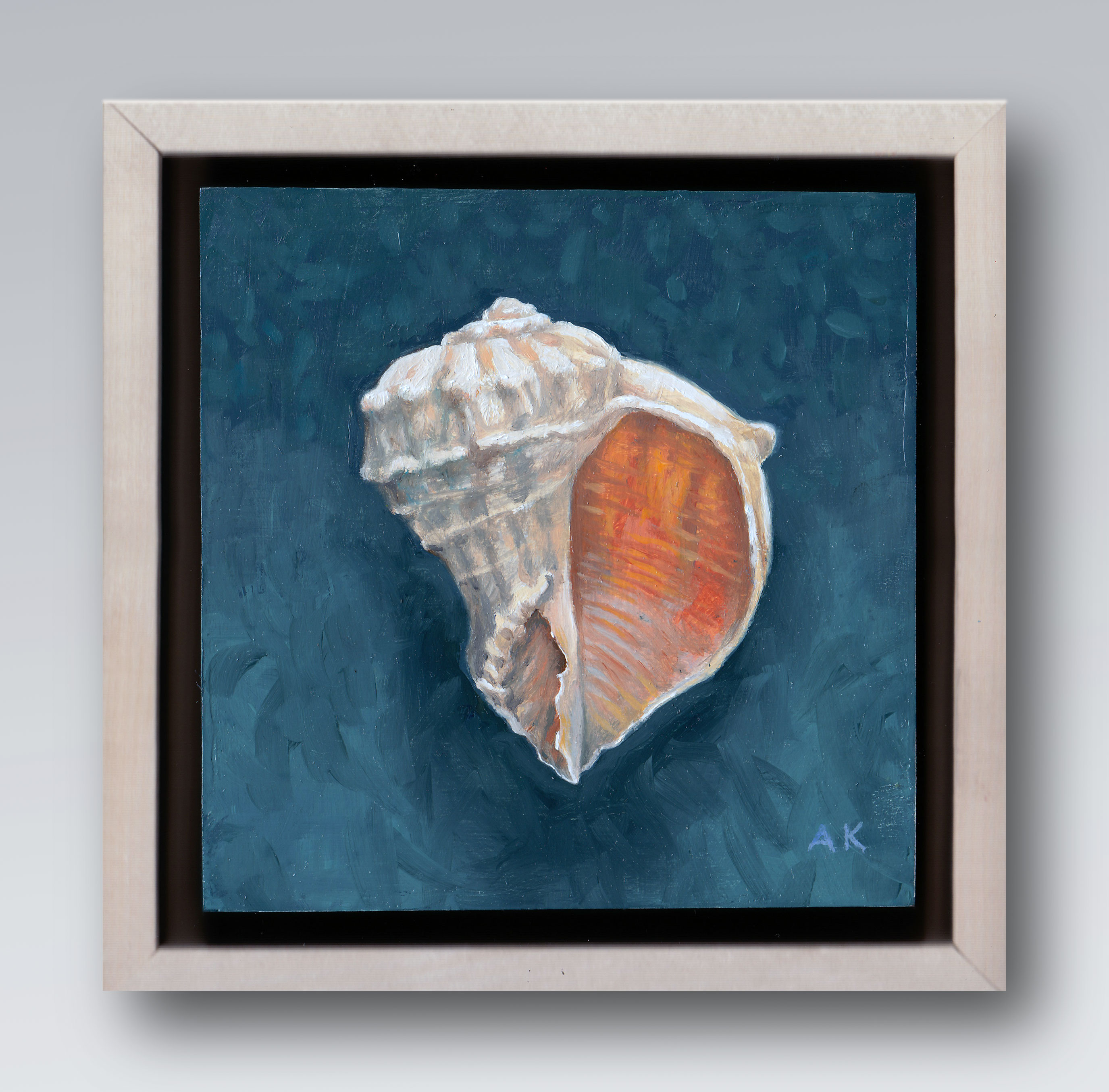 "Florida Rock - 6"" x 6"" - Oil on wood - $250.00"