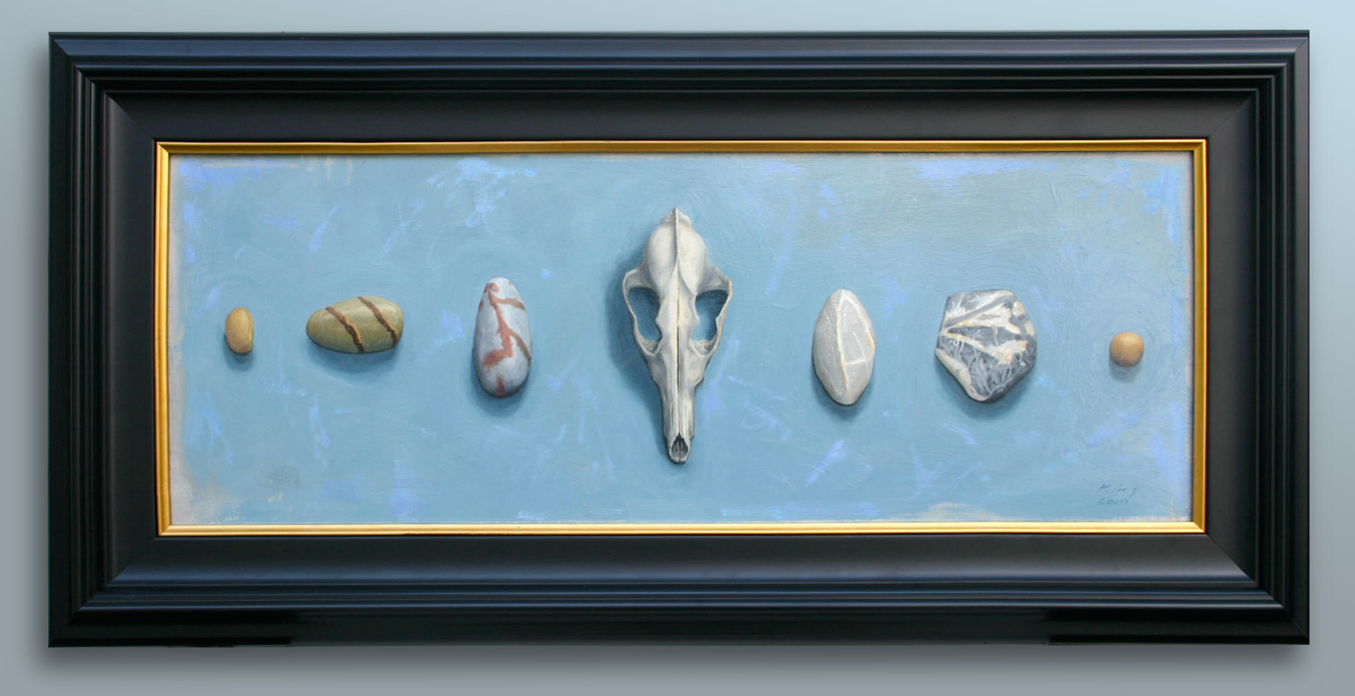 """Geological Time - 10.5"""" x 29.5"""" - oil on board - $1,500.00"""