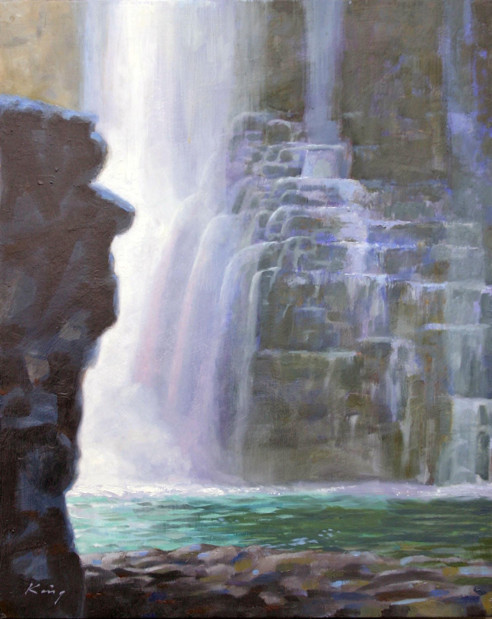 "Johnston Canyon, Banff - 20"" x 16"" - Oil on panel"