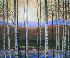 "Morning Birches - 24"" x 30"" - oil on canvas - $1,200.00"