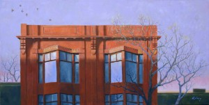 """Queen Street West - 18""""x36"""" - oil on canvas - $1,200.00"""