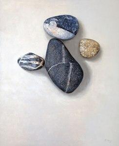 "Beach Stones - 24"" x 30"" - Oil on board - $1,200.00"