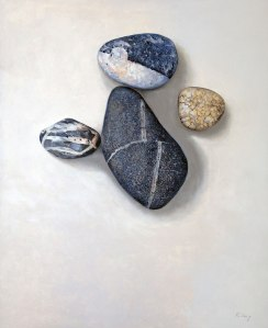 "Beach Stones - 24"" x 30"" - Oil on board - $1,200.00"