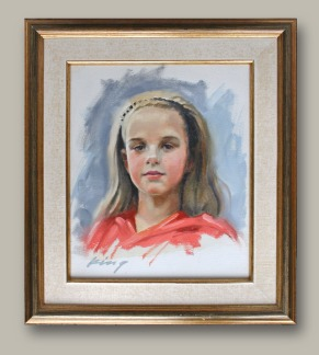 """Young Girl - 12"""" x 10"""" - Oil on Canvas"""