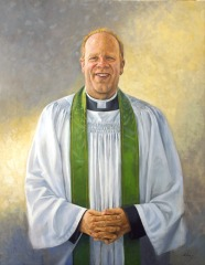 "Andrew Absil - Anglican Bishop of Toronto - 30"" x 24"" - oil on canvas"