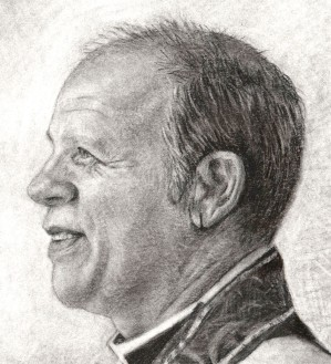 Andrew Absil, closeup - Charcoal Sketch