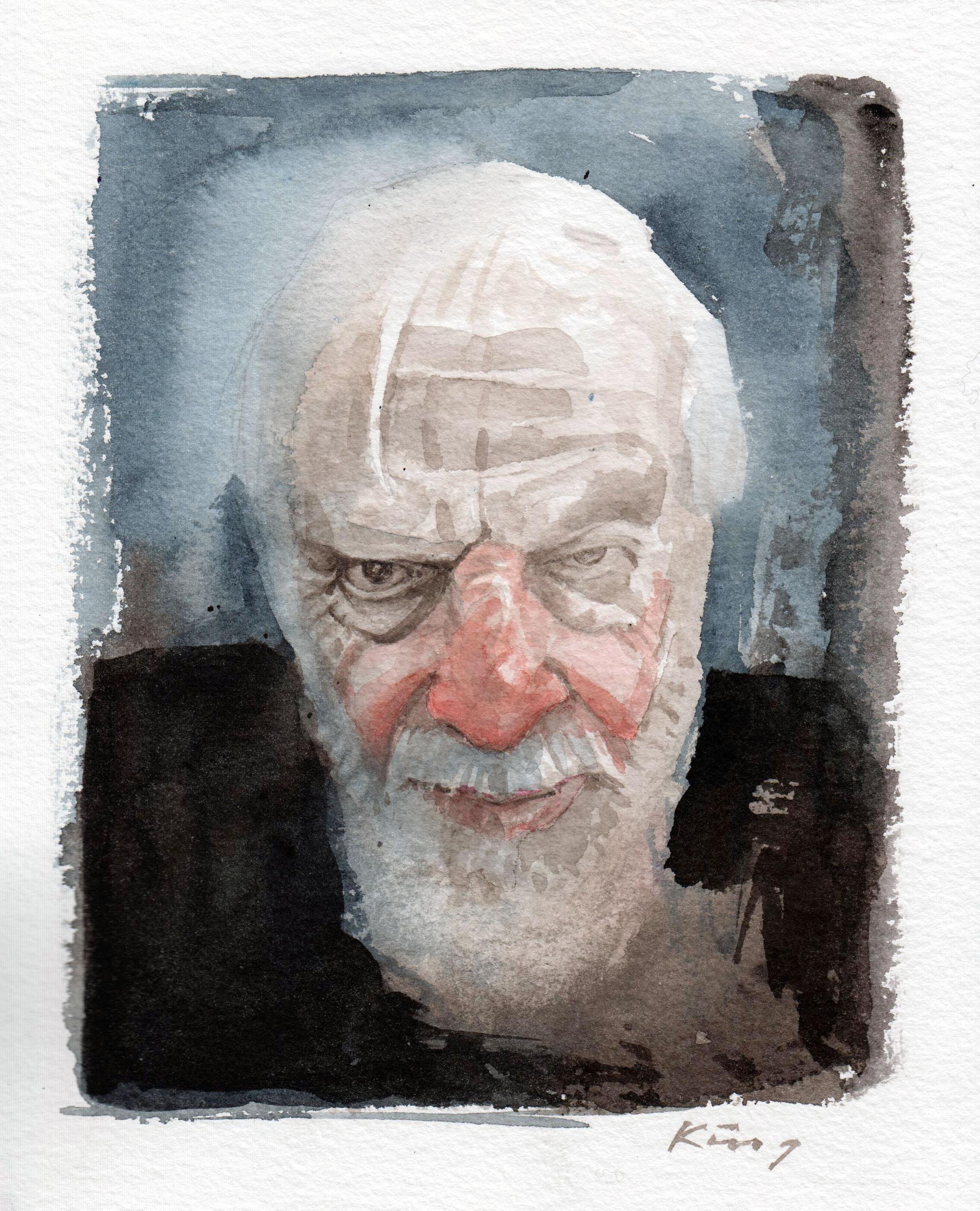 "Stuart - Watercolour, 9"" x 7"""