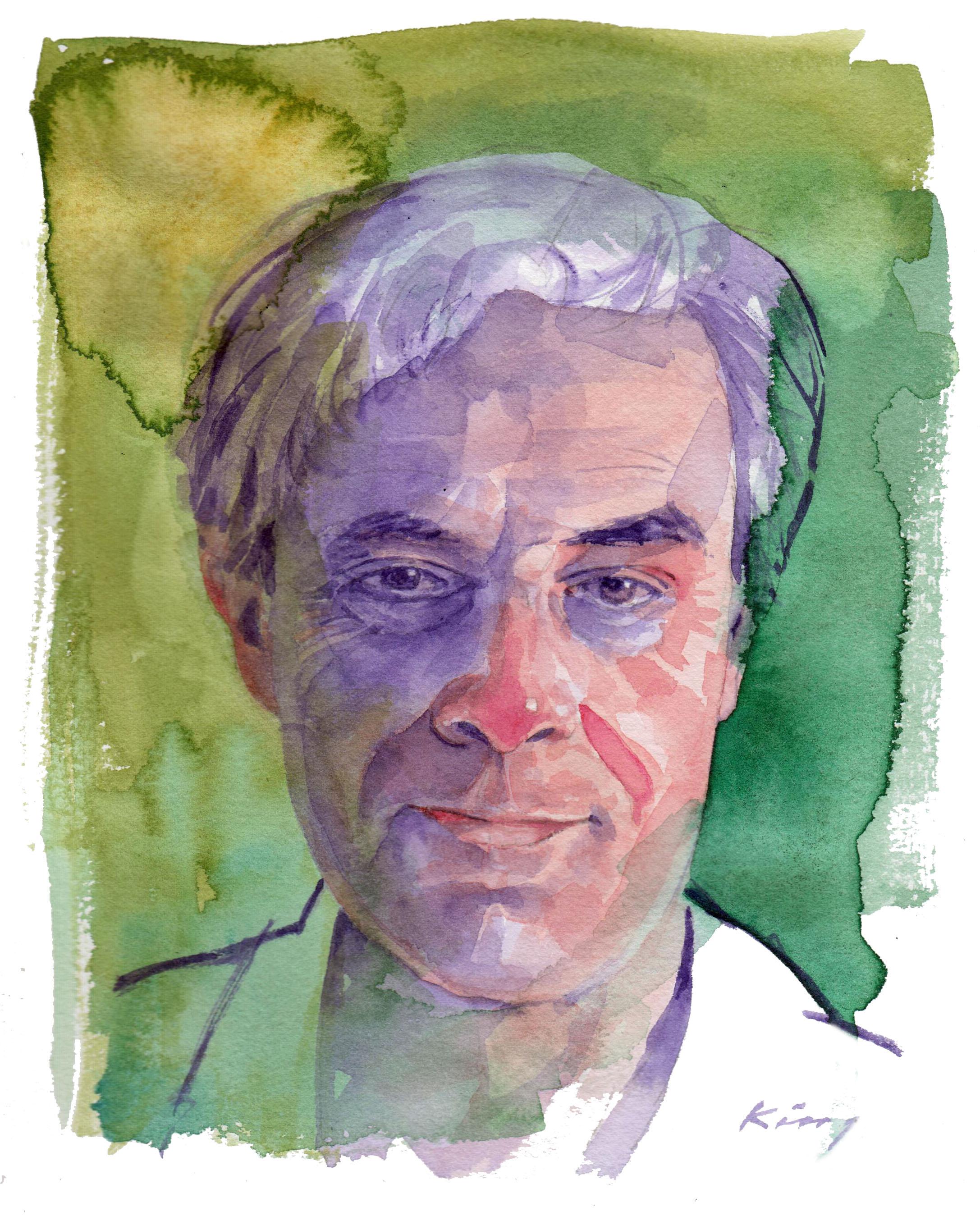 """Alan - Watercolour - 9"""" x 7"""""""