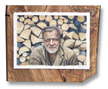 """Woodsman - Watercolour - 10"""" x 14"""""""