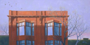 "Queen Street West - 18""x36"" - oil on canvas - $1,200.00"