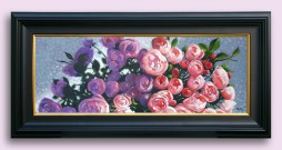 Oil painting of roses by Alan King
