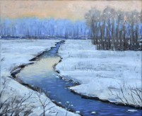 Oil painting of winter by Alan King