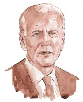 Joe Biden - Watercolour and pen & ink