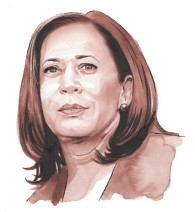 Kamala Harris, Vice-President of the United States - Watercolour